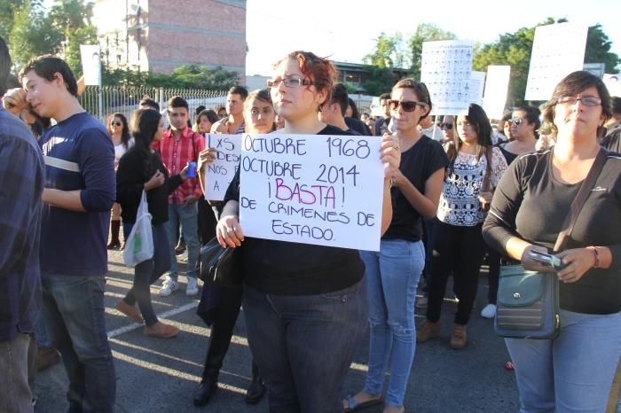 Protesta por Ayotzinapa en octubre del año pasado, en Guadalajara. Foto: Lucía Castillo/Archivo