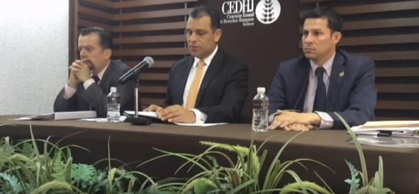 Sesión de la CEDHJ ayer jueves 12 de febrero.