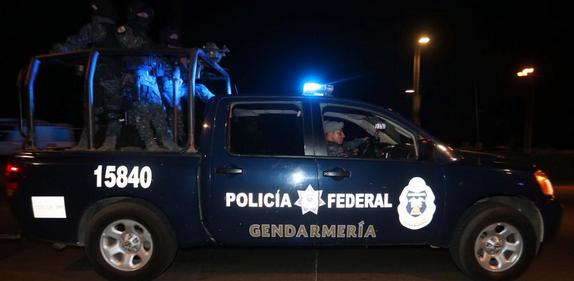 Ocho elementos de la Gendarmería fueron heridos en el lugar. Foto: Twitter de la Policía Federal (@PoliciaFedMx)
