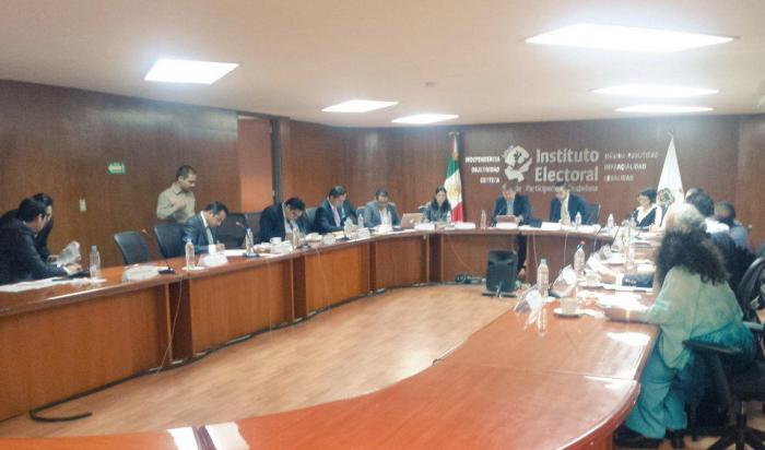 Sesión de hoy en el IEPC Jalisco. Foto: Twitter @iepcjalisco