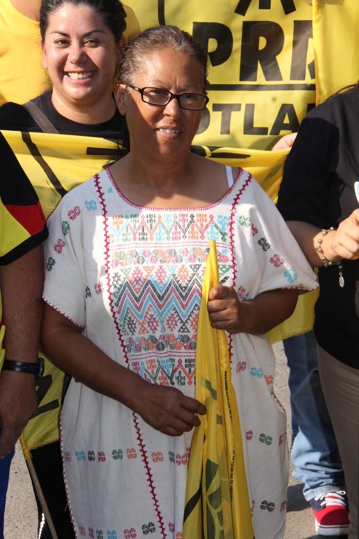 En imagen, la candidata del PRD a la alcaldía de Zapotlanejo. Foto: Brandon Olivarez