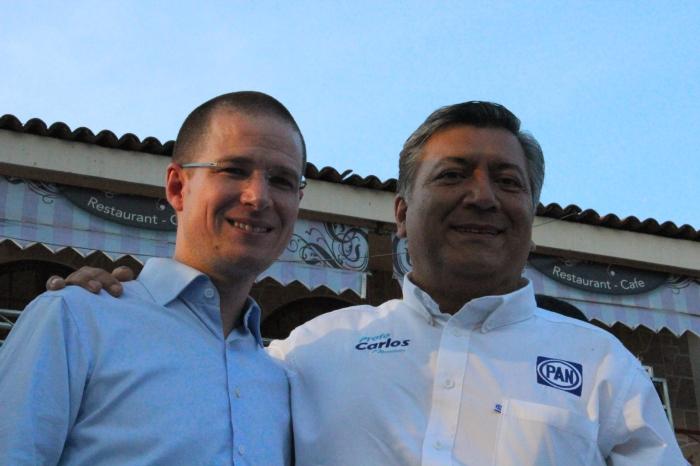 Carlos Cervantes estuvo en Ajijic acompañando a Ricardo Anaya. Foto: Alfredo Olivarez