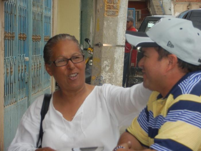 En imagen, la candidata perredista, quien propuso hacer faros culturales en el municipio. Foto: Brandon Olivarez