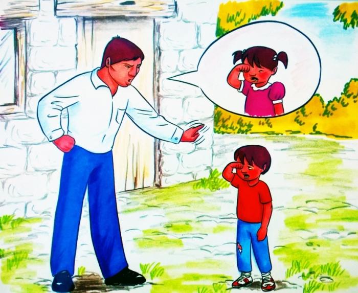 Existe la idea de que las mujeres se deben encargar de vestir a los hijos y que los hombres no deben llorar. Imagen: madreshoy.com