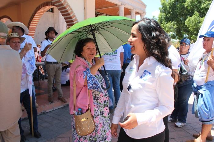 Fabiola Vallejo estuvo en La Laja hace un par de semanas. Foto: Alfredo Olivarez