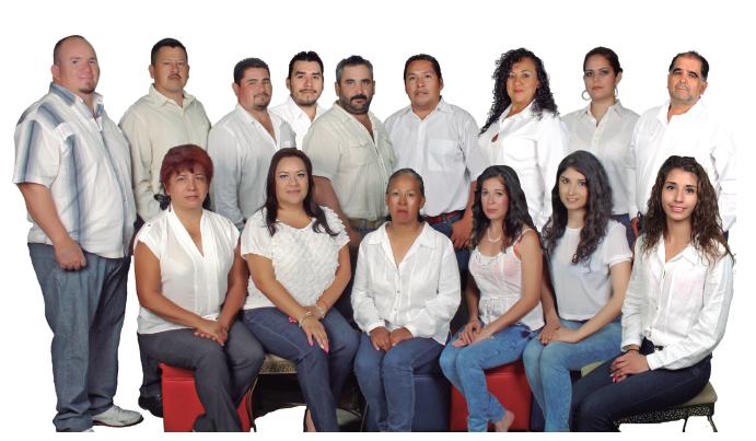 Planilla con la que Silvia Vargas compite por la presidencia municipal.
