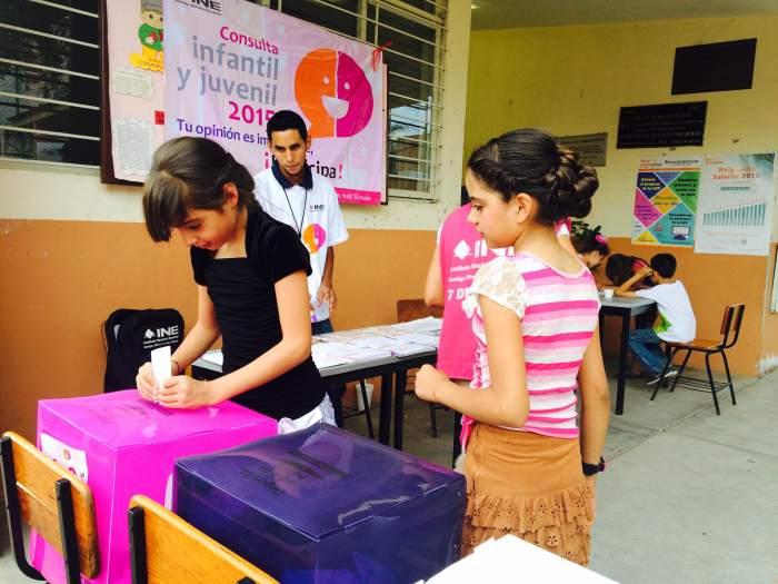 La casilla infantil de la escuela Aurelio Aceves. Foto: Flor Ramos
