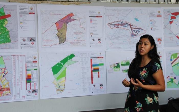 La muestra organizada por el Departamento de Proyectos Urbanísticos del CUAAD.  Foto: Cortesía UdeG