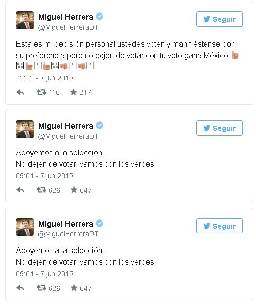 """Los tuits de """"El Piojo"""" Herrera (@MiguelHerreraDT)"""