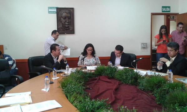 Sesión de ayer de la Comisión de Desarrollo Municipal. Foto: Twitter @LegislativoJal