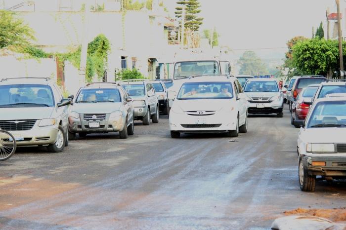 La vialidad de la zona se congestionó en algunos momentos.