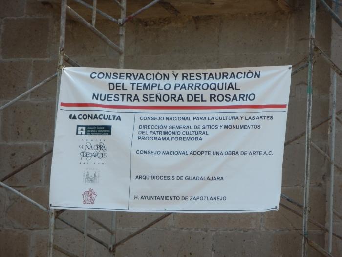 La restauración del templo costará 650 mil pesos en la primera etapa. Foto: Lucía Castillo