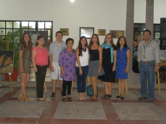 Los expositores en la inauguración de la muestra. Foto: Lucía Castillo