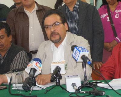 El líder sindical, Cuauhtémoc Peña Cortés, encabezó una manifestación contra el alcalde Francisco Pulido (Foto: El Respetable/Archivo)