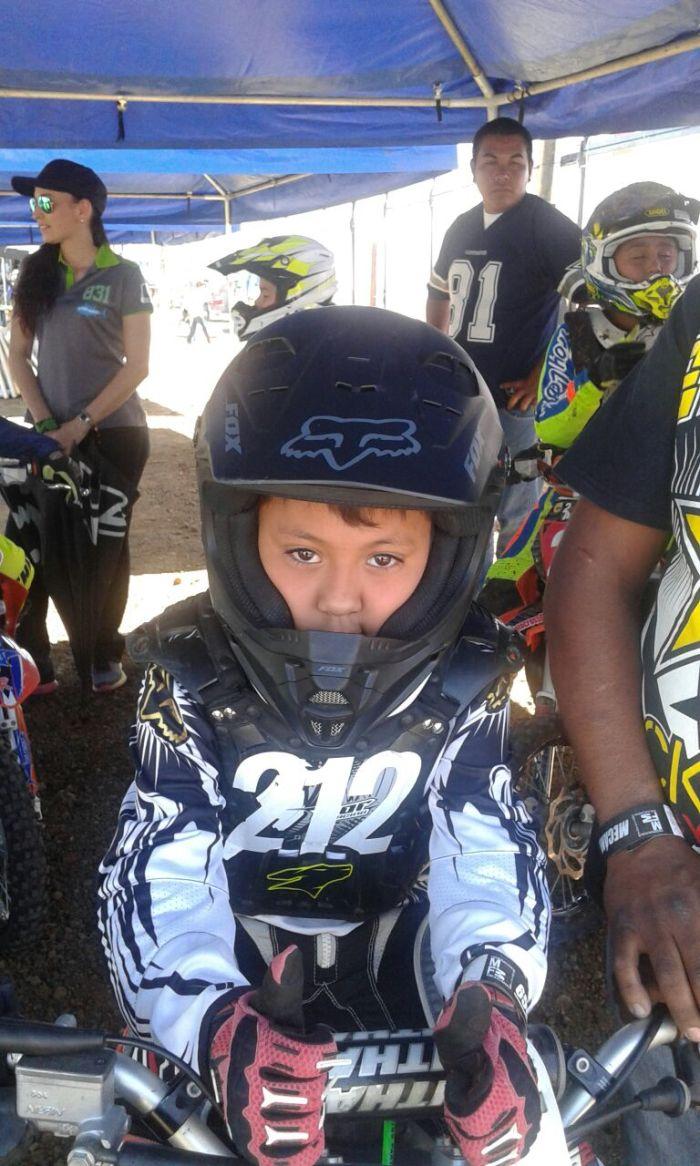 Diego tuvo su primer carrera a los 5 años. Foto: Cortesía