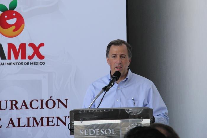 José Antonio Meade durante su discurso en el evento de esta mañana. Foto: Lucía Castillo