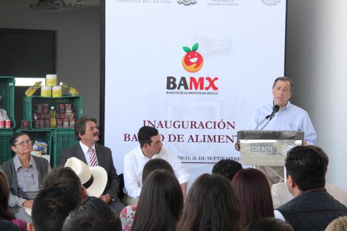 José Antonio Meade durante su discurso en el Banco de Alimentos. Foto: Lucía Castillo