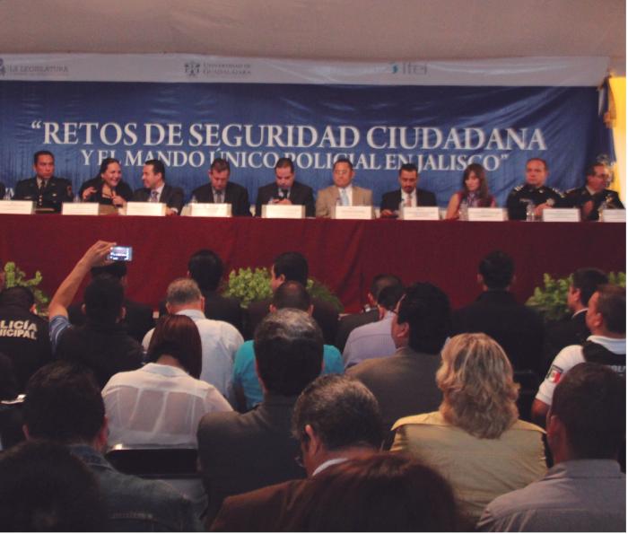 Uno de los foros fue para analizar el mando único en Jalisco