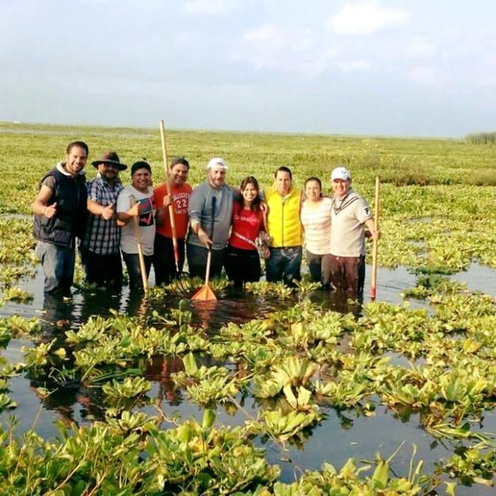 Javier Degollado, Presidente Municipal de Chapala, encabeza la macro limpieza del lago.