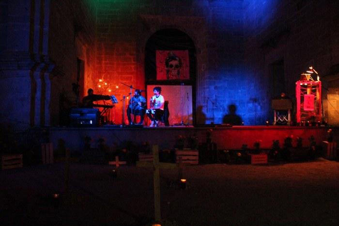 """Así lució el escenario en el festival """"Más allá de la Muerte"""". Foto: Alfredo Olivarez"""