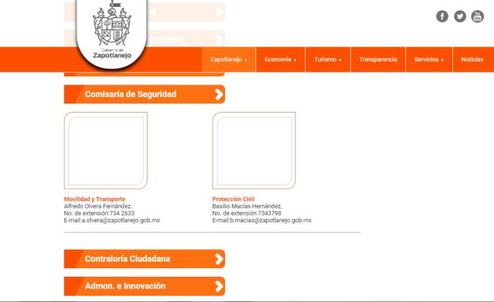 En el portal del Ayuntamiento de Héctor Álvarez ya no aparece Gustavo Jiménez en la Comisaría de Seguridad
