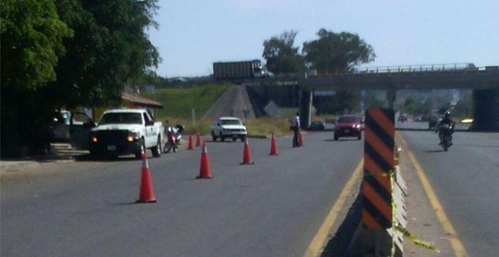Operativo vial en la llamada glorieta de Zapotlanejo. Foto: Gobierno Municipal