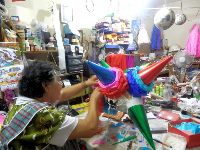 Piñata de picos creada por Elisa Cervantes. Foto: Lucía Castillo