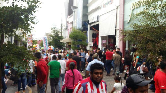 Calles principales de Zapotlanejo durante la llamada temporada. Foto: Cortesía Ayuntamiento