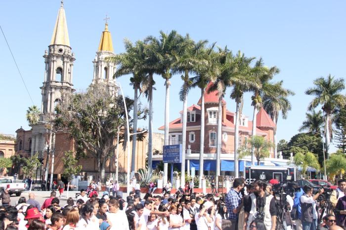 Vista del centro histórico de Chapala