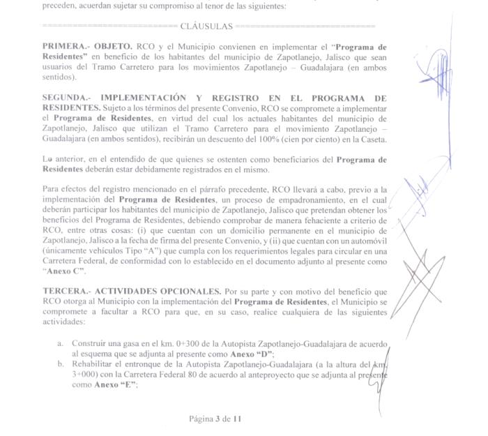 Convenio firmado entre el Gobierno de Zapotlanejo y la Red de Carreteras de Occidente (Foto: captura de pantalla)