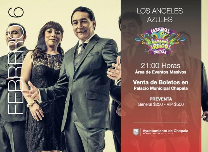 'Los Ángeles Azules' se presentan esta noche en el Carnaval Chapala 2016