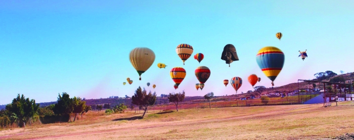 Se había anunciado que habría globos aerostáticos en la edición 2016 de la Expo Feria