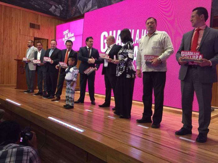 Presentación de la marca-ciudad Guadalajara Guadalajara, ayer en el Paraninfo de la UdeG (Foto: Facebook)