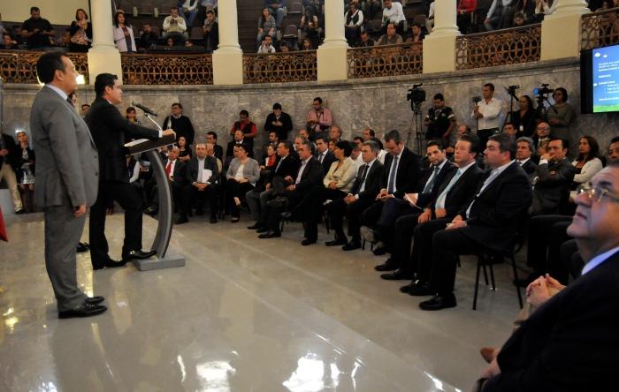 Presentación de la Agenda Integral de Calidad del Aire y Cambio Climático de Jalisco. (Foto: Cortesía).