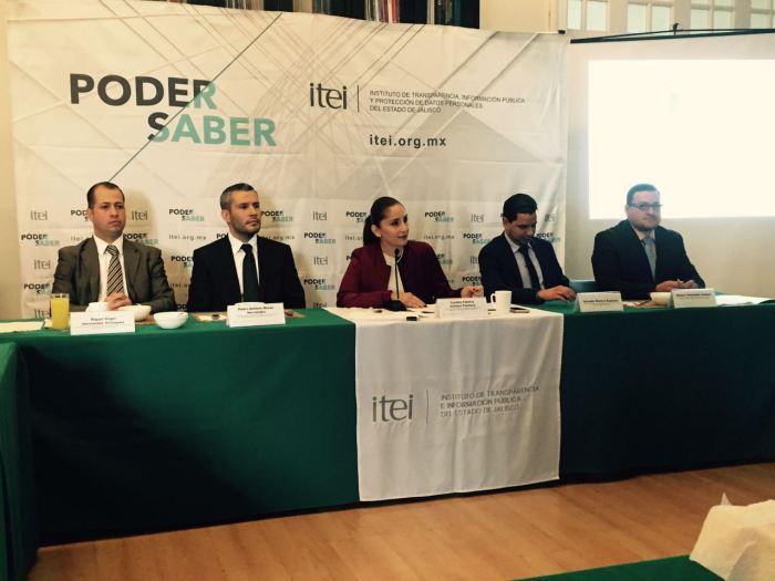 Los comisionados del ITEI dieron a conocer los resultados de esta evaluación en transparencia