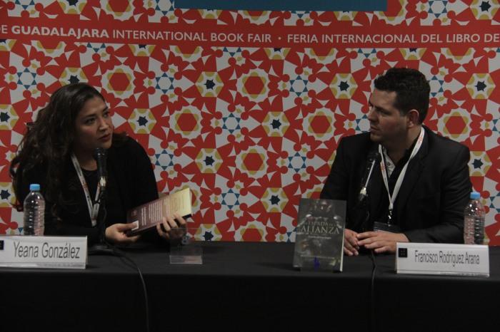La presentación del libro se realizo en el Salón A del Área Internacional. (Foto: Brandon Olivarez).