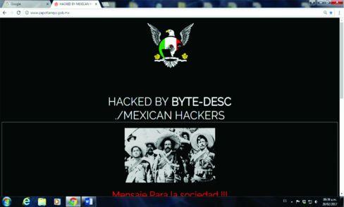 Parte del mensaje que tenía Mexican Hackers en la web del ayuntamiento