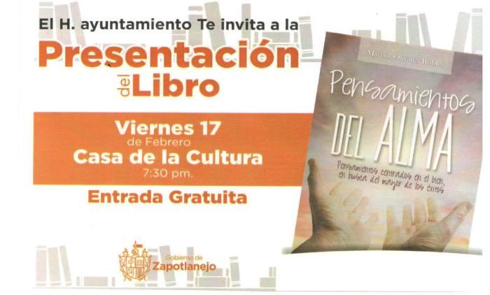 La invitación que patrocina Casa de la Cultura en apoyo a Marcos.
