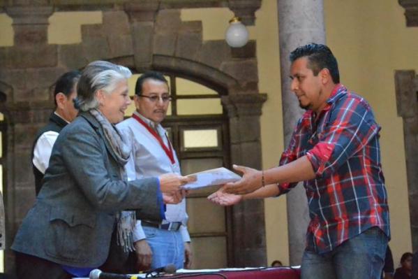 Myriam Vachez Plagnol, secretaria de Cultura de Jalisco felicitó a los proyectos ganadores. Foto: Gobierno de Jalisco